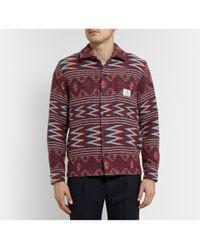 Neighborhood - Red Woven-Wool Overshirt for Men - Lyst