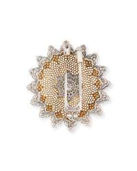 Buccellati | Metallic Tulle Diamond Brooch Pendant Necklace | Lyst