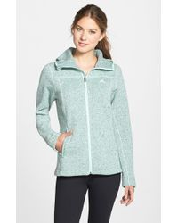 Adidas - Green 'hochmoos' Polar Fleece Hoodie - Lyst