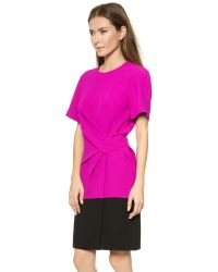 Alexander Wang Purple Colorblock T-Shirt Dress - Cobra