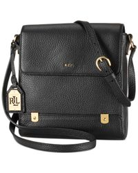 Lauren by Ralph Lauren | Black Morrison Crossbody | Lyst