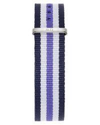Daniel Wellington Blue 'classic Trinity' 18mm Nato Watch Strap