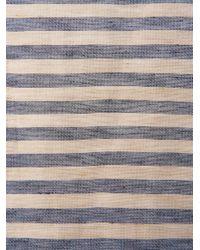 Oliver Spencer | Blue Breton Stripe Linensilk Blend Scarf for Men | Lyst