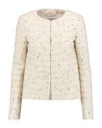 Valentino Roma White Wool-blend Bouclé Jacket