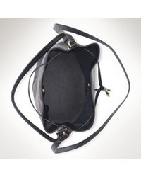 Ralph Lauren | Black Crawley Leather Drawstring Bag | Lyst
