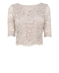 Coast | Pink Selbessa Lace Top | Lyst