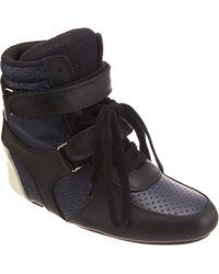 Junya Watanabe Blue Perforated Wedge Sneaker