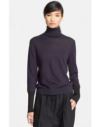 Rag & Bone | Gray 'Jessica' Wool Blend Turtleneck Sweater | Lyst