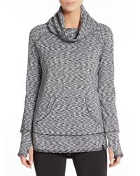 Marc New York Gray Space-dye Cowlneck Top