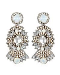 Suzanna Dai | White St. Germaine Drop Earrings, Opal/crystal | Lyst