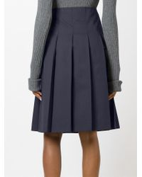 Jacquemus - Blue Pleated Skirt - Lyst