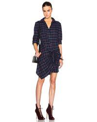 Thakoon Addition Blue Thakoon Flannel Side Tie Dress