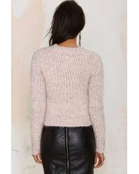 Nasty Gal | Pink J.o.aPastel Me More Metallic Sweater | Lyst