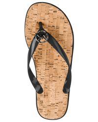 Michael Kors | Black Michael Mk Jet Set Jelly Flat Sandals | Lyst