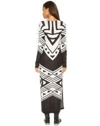 Free People - Patterned Bauhaus Knit Dress - Black/cream Combo - Lyst