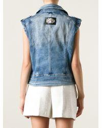 Philipp Plein | Blue Sleeveless Jacket | Lyst