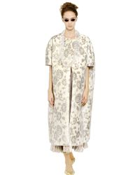 Rochas | Natural Floral Embroidered Duchesse Nigel Coat | Lyst
