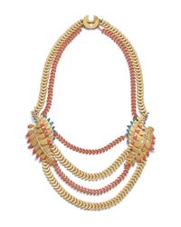 Tory Burch - Multicolor Fern Necklace - Lyst