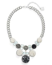 Anne Klein | Metallic Stone Frontal Necklace | Lyst