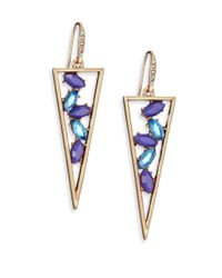 ABS By Allen Schwartz | Metallic Sunset Blvd Cascade Triangle Drop Earrings | Lyst