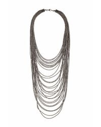 TOPSHOP | Metallic Mega Beaded Multi-row Necklace | Lyst