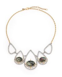 Alexis Bittar | Metallic Elements Shadow Star Black Mother-of-pearl & Crystal Pendant Necklace | Lyst