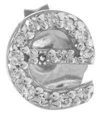KC Designs - Metallic White Gold Diamond E Single Stud Earring - Lyst