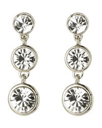 Givenchy | Metallic Silver-Tone Triple Drop Earrings | Lyst