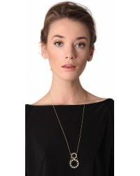 House of Harlow 1960 | Black Double Sunburst Pendant Necklace | Lyst
