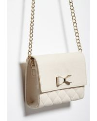 Forever 21 Natural Faux Leather Bow Crossbody