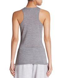 424 Fifth | Gray Sleeveless Merino Wool Roundneck Sweater | Lyst