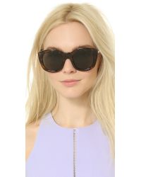 Le Specs Natural Runway Luxe Mirrored Sunglasses - Milky Tort/khaki Mono