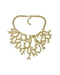 Kenneth Jay Lane | Metallic Polished Gold Coral Branch Necklace | Lyst