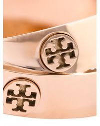 Tory Burch - Metallic Double Logo Bangle - Lyst