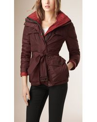 Burberry - Red Technical Parka With Down-filled Warmer - Lyst
