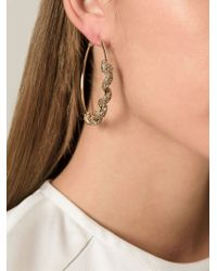 Roberto Cavalli - Metallic 'Topaz Snake' Hoop Earrings - Lyst