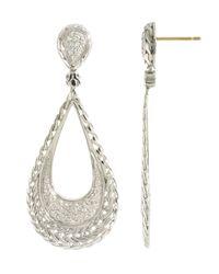 John Hardy   Metallic Diamond Teardrop Earrings   Lyst