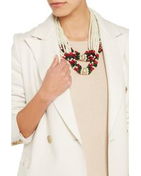 Kenneth Jay Lane - White Convertible Faux Pearl Necklace - Lyst