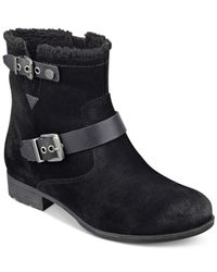 Marc Fisher Black Nattaly Booties
