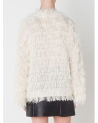 Toga | White Fluffy Sweater | Lyst