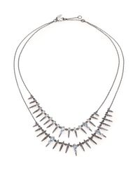 Alexis Bittar Fine | Metallic Midnight Marquis Blue Quartz, Sapphire & Sterling Silver Double-strand Necklace | Lyst