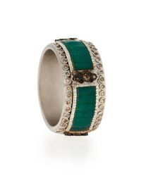 Armenta - Green New World Mosaic Stack Ring With Diamonds - Lyst