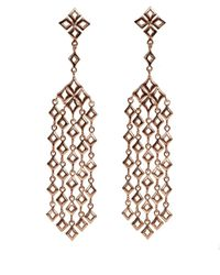 Dinny Hall | Pink Large Rose Gold Vermeil Almaz Multi Drop Earrings | Lyst