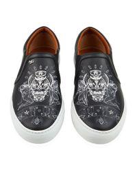 Givenchy - Black Tattoo Print Slip-on Sneaker for Men - Lyst