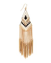 Forever 21 - Metallic Hieroglyphic Drop Earrings - Lyst