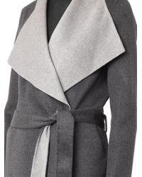 JOSEPH - Gray Lisa Long Double-Faced Coat - Lyst