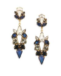 Erickson Beamon | Blue Velvet Underground Crystal Drop Earrings | Lyst