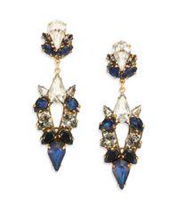 Erickson Beamon - Blue Velvet Underground Crystal Drop Earrings - Lyst
