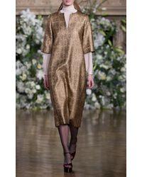 Vanessa Seward Metallic Corinthe Lamé Matelasse Dress