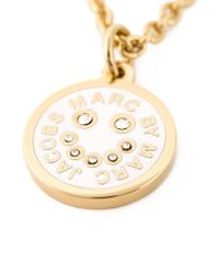 Marc By Marc Jacobs Pink Smiley Logo Pendant Necklace